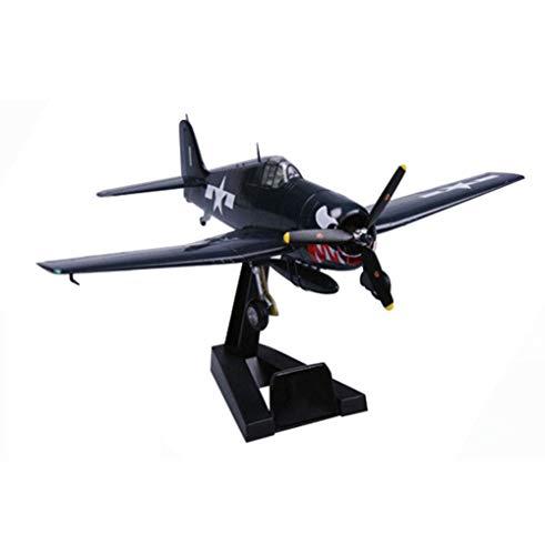 1yess Militärkampf Modell, Maßstab 1:72 Grumman F6F Hellcat VF-27 Vereinigte 1944 Plastikmodell, vorzügliche Dekorationen, 7.1Inch X5.6Inch