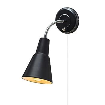 Globe Electric 65312 Ramezay Gooseneck Sconce Matte Black