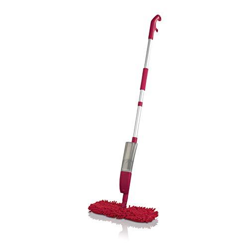 Cleanmaxx Spray-mop flexibel rood (praktische omkeerbare mop voor nat en droog reinigen)