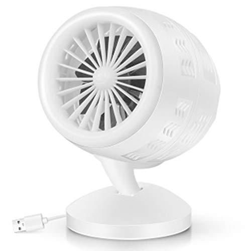 FASZFSAF Mini Ventilador Escritorio USB, Ventilador Mesa Silencioso Ajustable, Ventilador Personal con BateríA Recargable, para Mesa Escritorio Dormitorio Oficina en Casa,Blanco