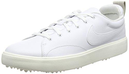 Nike Men's Course Classic Golf Shoes (Medium) (8 M, White/White/Sail/Black)