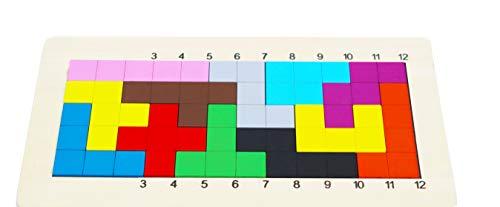 Toys of Wood Oxford Pentomino Puzzle Geist Spiel brettspiele Holz-Holz-Tangram-Puzzle für Kinder-Kinder-Reisespiele - Holz-Spielzeug für Kinder und Erwachsene