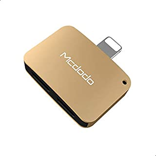 Mcdodo 2 In 1 Dual Lightning Adapter Aux & Charing For Iphones - Gold