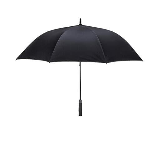 WYF Sturmfest 8 Bone Large K-POP Regenschirm - Langer Griff Windproof & Stormproof Umbrella - Auto Open Black Regenschirme