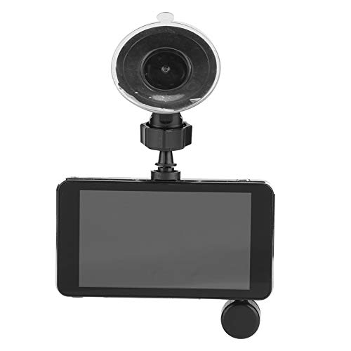 Dashcam Autoachteruitrijcamera, 4 inch 1080P Full HD Auto DVR Mini Camera Recorder 3 lens rotatie 360 graden Front & Rear Monitor