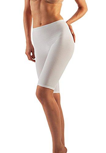 Farmacell 112 (Weiss, S/M) Short Massierende Hose mit Anti-Cellulite Effekt