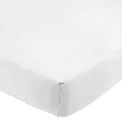 R.P. Lenzuolo sotto con Angoli Misura Particolare 1 Piazza E Mezza cm 120x190 + 25 cm di Lato, Tinta Unita - Bianco