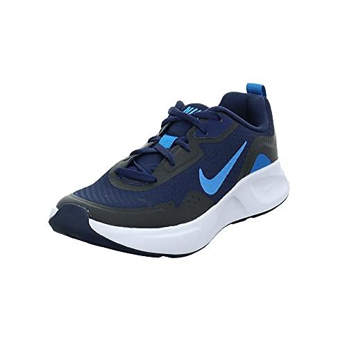 Nike WearAllDay, Scarpe da Ginnastica, Midnight Navy/Imperial Blue, 33 EU