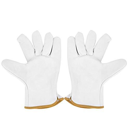 Leer WIG lashandschoen hitte-/vuurvast, superzachte, vuurvaste schapenvachthandschoenen met korrel regenhandschoenen voor oven/grill/open haard/oven/oven/pannenlappen/pruik lasers