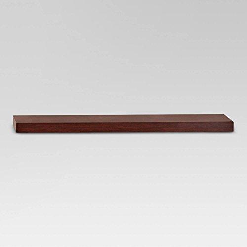 """35"""" x 8"""" Floating Wall Shelf Espresso - Threshold™"""