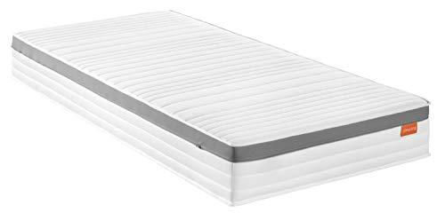 sleepling Premium 1000er Tonnentaschenfederkernmatratze mit Kaltschaumauflage und Klimaband, Härtegrad 4, 90 x 200 cm, weiß