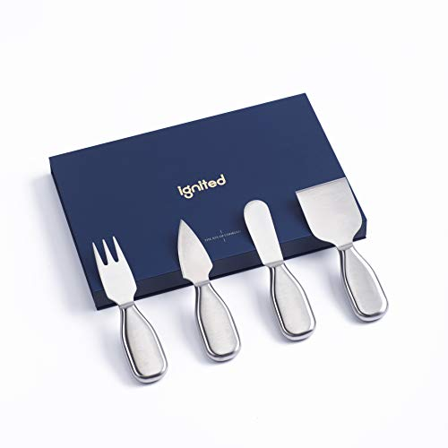 ignited 4 Pieces Set Cheese Knives