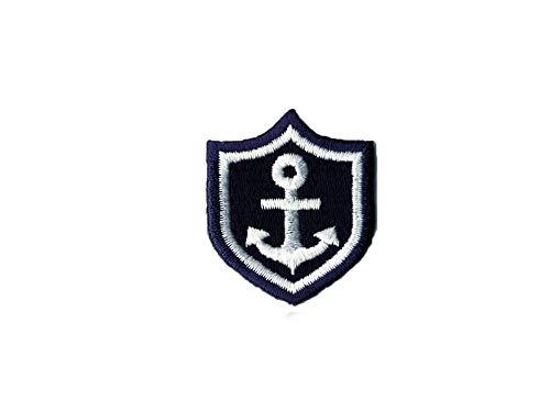 gedeacc-kreativ Bügelbild Applikation Aufnäher Maritim Wappen Anker 3,5 x 4,0 cm
