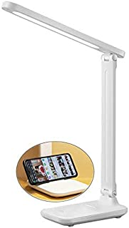 LED Table Lamp,Eye-caring Table Lamps,Study and Reading Lamp,Rechargeable Desk Lamp with Touch Dimmable,Foldable USB Charg...