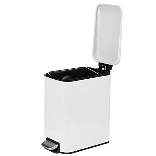 Shanrya Cubo de Basura, Cubo de Basura doméstico de diseño Compacto de Acero Inoxidable de 5L, para Cocina, Oficina, baño, Sala de Estar