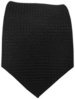 The Tie Bar Wovenシルク100?%ブラックソリッドTextured Boys Tie
