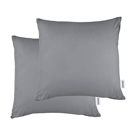 Kissenbezug kissenhülle Kopfkissenbezug Bettkissenbezug Pillowcase, Adoric [2er Set] Kissenbezug 100% Mikrofaser, 80 cm x80 cm.(Grau)