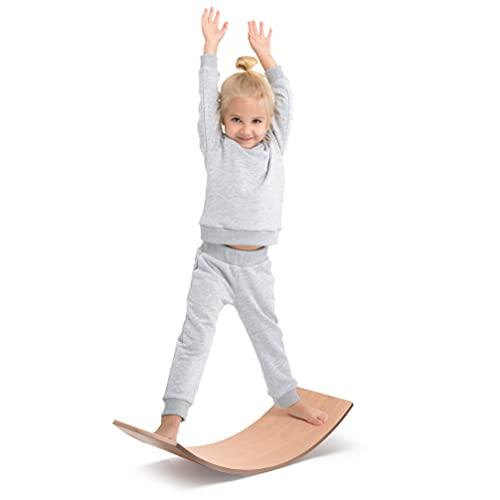 Milliard Tabla de Equilibrio de Madera, Montessori Waldorf Juguete Curva para Niños y Adultos