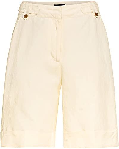 GANT Damen D1. Linen Blend Long Klassische Shorts, Cream, 36