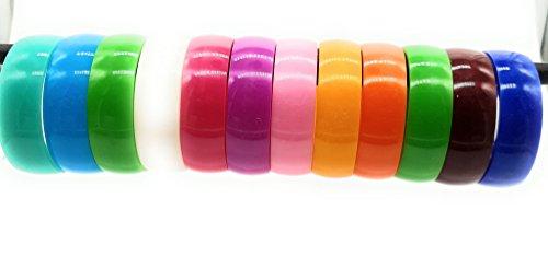 Bollywood sieraad kunststof armbanden armbandKada Bangle Multicolor geschenk bruiloft beschilderd boho knutselen cartier christ exclusieve Indiase hippie, maat: 2,6 (6 cm)