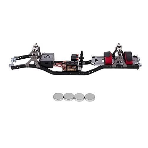 JRUIAN Accesorios de Impresora DIY RC Car Frame Viga de chasis de Metal de Fibra de Carbono con Motor 540 para AXIAL SCX10 RC Crawler Climbing Car Repuestos Piezas de Impresora 3D (Color: Neg
