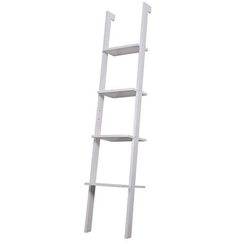 Boekenplank display plank Woonkamer Keuken Ladder Plank 4 Verdiepingen Tellende Boekenkast Shelf Geneigd Wandrek Woonkamer Slaapkamer Kantoor Keuken Plank Woondecoratie