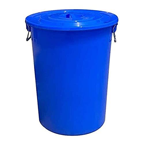 MNSSRN Barril de plástico Grueso con Tapa, contenedor de Almacenamiento de Agua Industrial para el hogar, Barril de Vino de Gran Capacidad, Barril de fermentación, Barril de Vino,Azul,50L