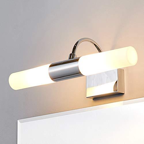 Lindby Wandleuchte, Wandlampe Bad \'Devran\' dimmbar (spritzwassergeschützt) (Modern) in Chrom aus Metall u.a. für Badezimmer (2 flammig, G9, A++) - Wandleuchten, Spiegelleuchte Badezimmer