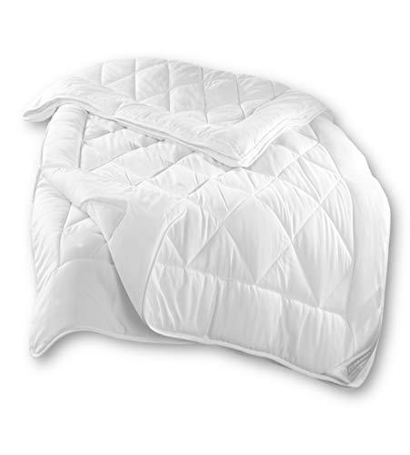 Dreamhome 4-Jahreszeiten Baby Kinder-Bettdecke 100x135 bestehend aus 2 Decken Set mit Druckknöpfe, für Winter und Sommer geeignet + 40x60 Kissen