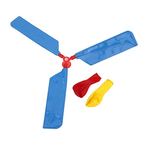 Ballon Hubschrauber Umwelt Kreatives Spielzeug Ballon Flugzeug Propeller Kinder Traditionelle Klassische Flugspielzeug; Blau Candyboom