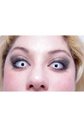 Lenti a contatto occhi bianchi Taglia Unica