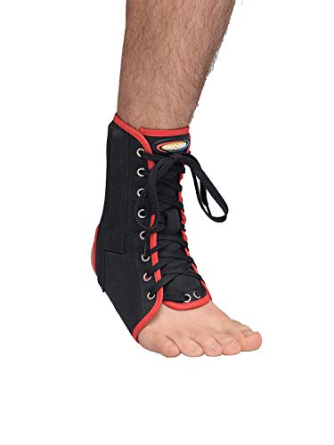 Maxar Canvas Ankle Brace with Laces and Metal Stays