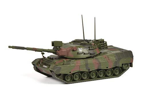Schuco 452652300 Leopard 1A1, Bundeswehr Version, Flecktarnung, Modellauto, Panzer, Maßstab 1:87