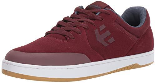 Etnies Herren Marana Skateboard-Schuh, Rot (Burgunderrot/Weiß), 48 EU