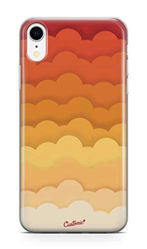 Capa Poliuretano, Elfo, Iphone XS Max, Capa Protetora para Celular, Laranja CUSTOMIC