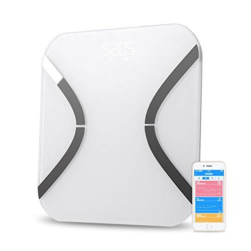 XTZJ Bluetooth Smart Bath Bath Scales para el peso corporal Escala de grasa corporal digital, monitor automático Peso corporal, grasa, BMI, Agua, BMR, Misa muscular con aplicación de teléfono intelige