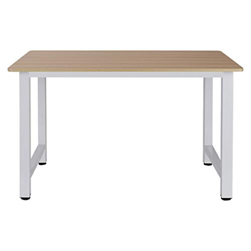 GINELO Computer Desk Home Desktop Computer Study Study Table Different Size Desk (1006074, White)