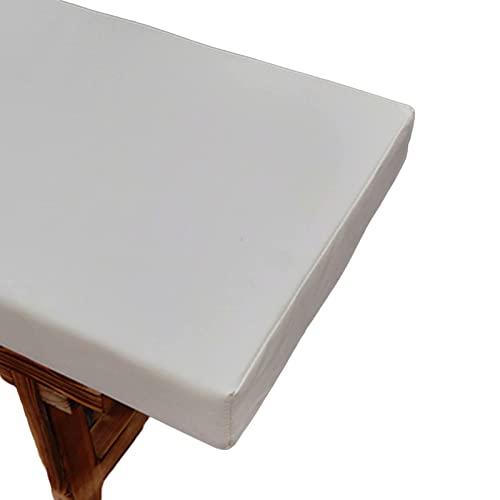 LJM Cojín para Banco de jardín cojín Grueso para Banco Cojines de Playa de 2 o 3 plazas para Muebles de jardín cojín para sillas Interiores y Exteriores (Rojo 150 cm x 42 cm)