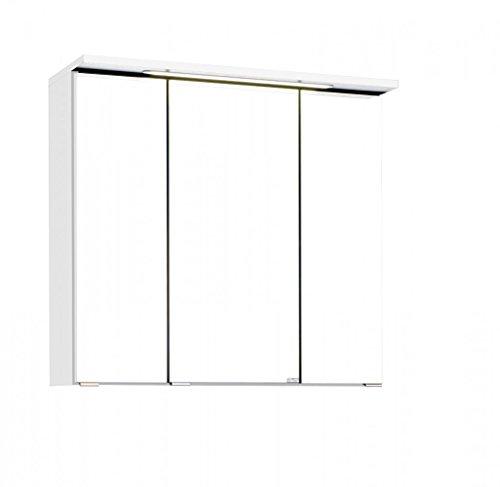 Held Möbel Bolgona Spiegelschrank, Holzwerkstoff, Weiß, 20 x 70 x 68 cm