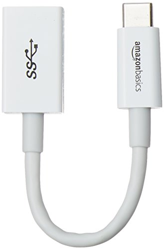 Amazon Basics USB Type-C to USB 3.1 Gen1 Female Adapter - White, 10-Pack