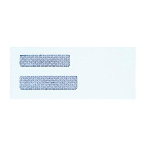 Office Depot 100% Recycled Lift Press(TM) Double-Window Envelopes, 9 (3 7/8in. x 8 7/8in.), White, Pack of 500, 76169 Photo #2