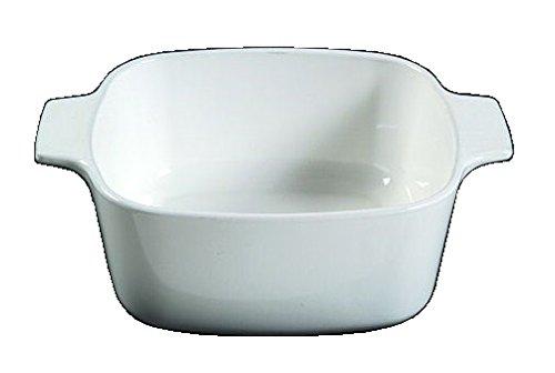 Corning Ware White Coupe Square Casserole / No Lid ( 1 1/2 Quart ) ( A-1 1/2-B )