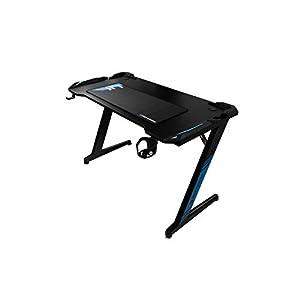 CoolBox DeepMaster II – Mesa gaming pc con iluminación LED RGB, Color Negro, Medidas 120 x 60 x 74 cm