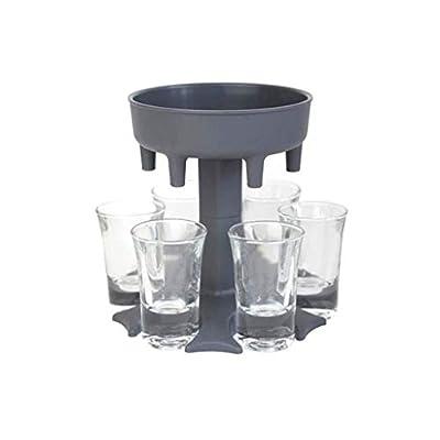 6 Shot Glass Dispenser and Holder -Dispenser For Filling Liquids, Shots Dispenser, Multiple 6 Shot Dispenser, Bar Shot Dispenser, Cocktail Dispenser, Party Gifts Bar Accessories