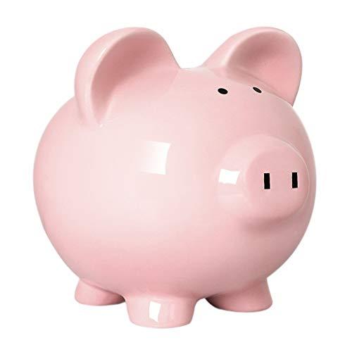 Hucha grande para ahorrar dinero, caja de almacenamiento de dinero, color rosa, creativo, de cerámica, para ahorrar dinero y monedas, ideal como regalo para niños (color rosa, tamaño: A)