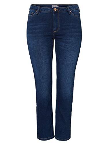 Junarose NOS Damen JRTEN NOLA DB K NOOS Straight Jeans, Blau (Dark Blue Denim Dark Blue Denim), W29 (Herstellergröße: 38)