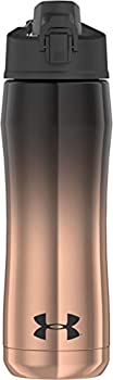 Under Armour Chrome Beyond 18 Ounce Vacuum Insulated Stainless Steel Water Black/Rose Gold Hydration Bottle