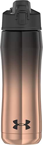 Under Armour Garrafa de hidratação Chrome Beyond 510 g isolada a vácuo de aço inoxidável, preto/ouro rosa