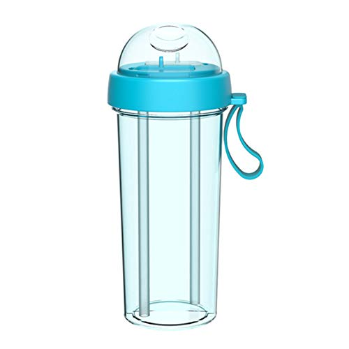 Double Sippy Drink Cup Creatives Water Bottle Double-tube Opening Design For Home Outdoor