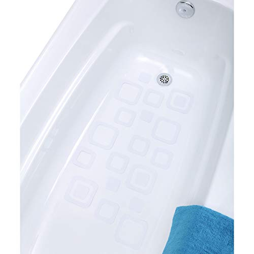 SlipX Solutions Adhesive Square Safety Treads Add Non-Slip Traction to Tubs, Showers & Other...